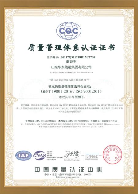 质量认证9001